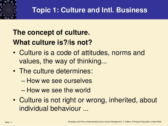 Browaeys and Price, Understanding Cross-cultural Management, 1st Edition, © Pearson Education Limited 2009Slide 1.1 Topic ...