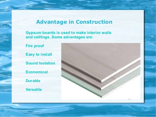 The Three Types Of Gypsum ~ Uses of gypsum boards in construction