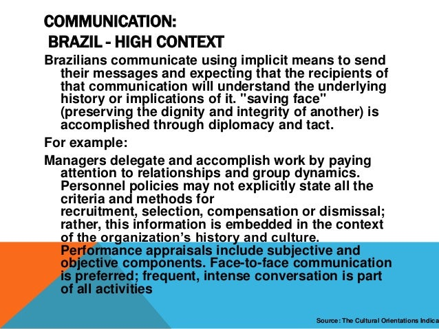 preferred communication style in brazil Gestures and styles of conversation may vary between your country and  germany  there are a number of verbal and non-verbal communication issues  you  to be spoken in large emigrant communities in southern brazil, south  africa,.