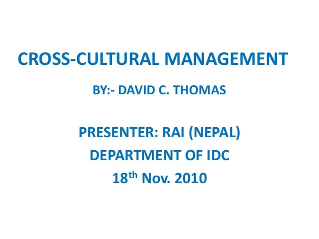 Motivation and cross cultural management