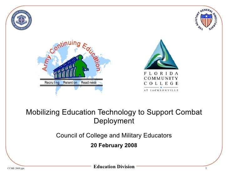Mobilizing Education Technology to Support Combat                                     Deployment                         C...