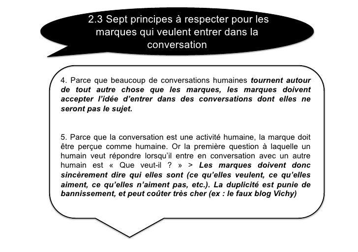 2.3 Sept principes à respecter pour les          marques qui veulent entrer dans la                     conversation   4. ...