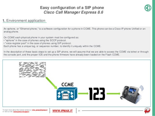 CCME How To - Simple SIP phones configuration