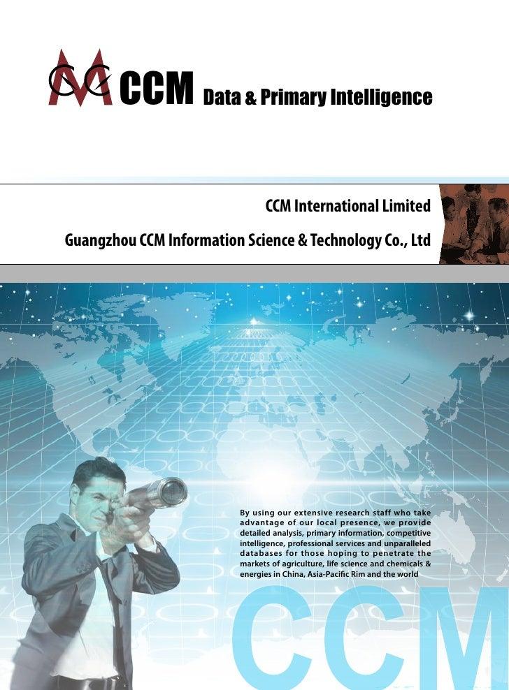 CCM Data & Primary Intelligence                                  CCM International Limited Guangzhou CCM Information Scien...