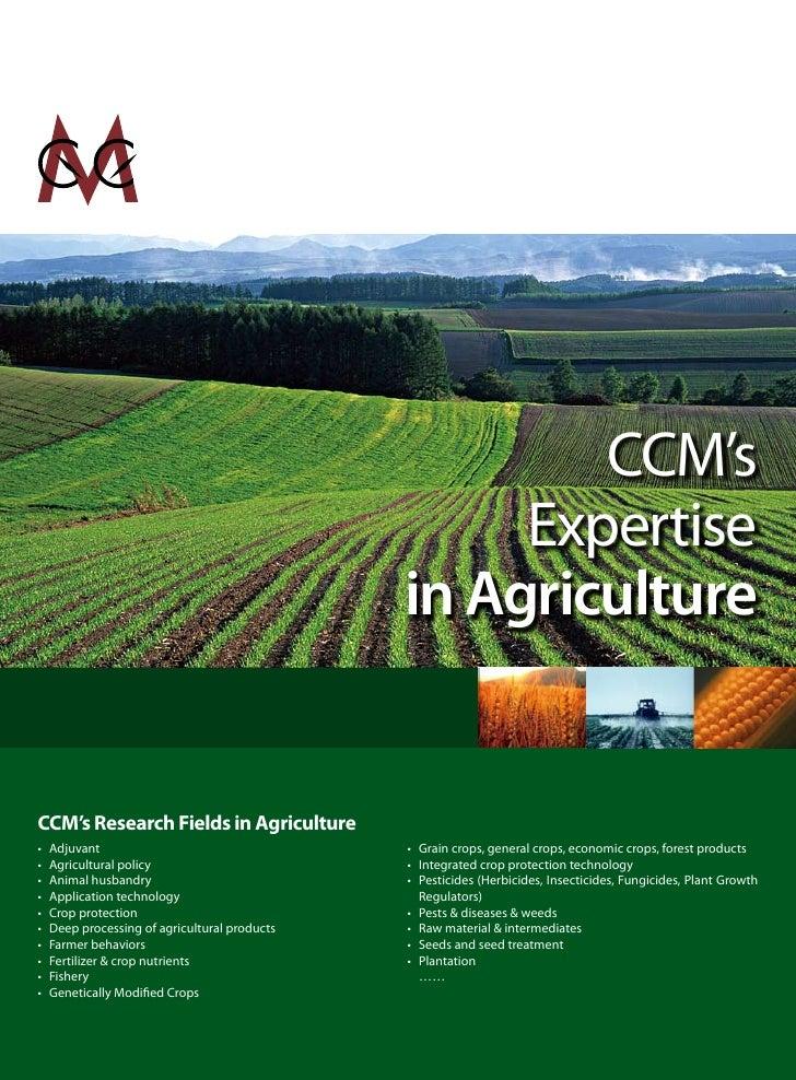 CCM's                                                     Expertise                                                in Agri...