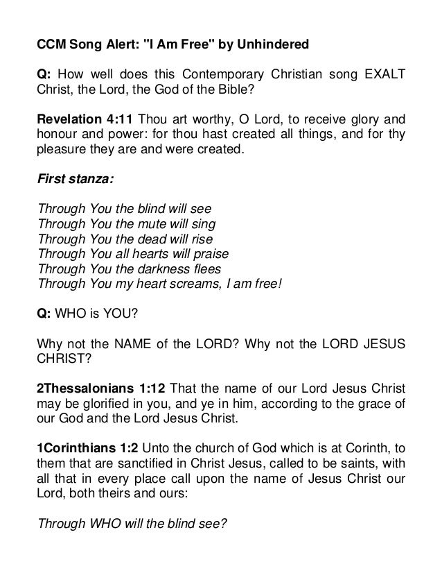 I created you christian song
