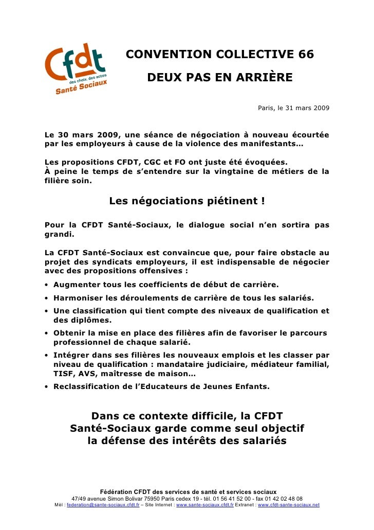 CONVENTION COLLECTIVE 66                                             DEUX PAS EN ARRIÈRE                                  ...