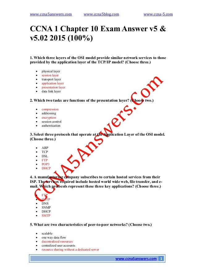 exam chapter 1 5 Ccna 1 v5 routing and switching: introduction to networks exam answers 2014 introduction to networks : introduces the architecture, structure.
