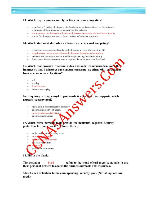 which statement describes a characteristic of cloud computing Ccna 1 chapter 1 exam answer v5