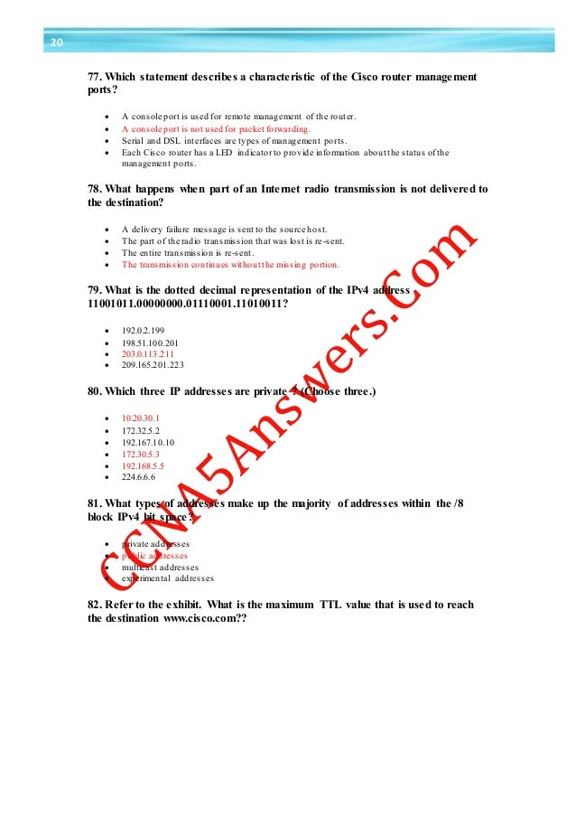 which statement describes a characteristic of cloud computing Ccna 1 final exam answer v5