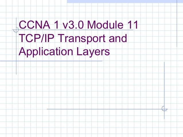 CCNA 1 v3.0 Module 11TCP/IP Transport andApplication Layers