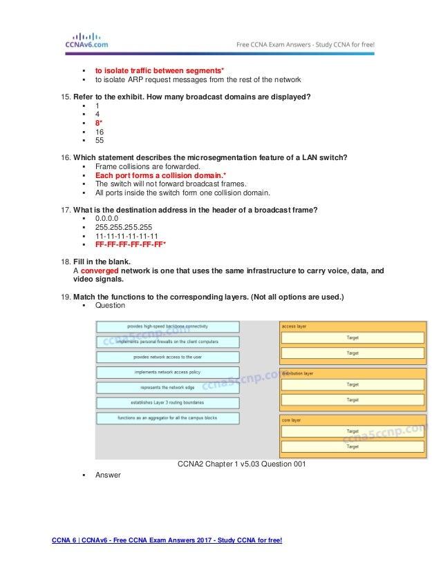 Ccna 2 (v5.0.3 + v6.0) chapter 1 exam answers 2017 – 100% full