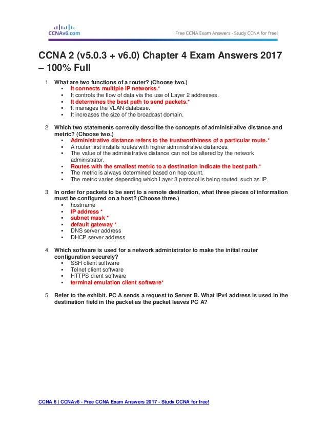 cisco exam 3 answer v5 0