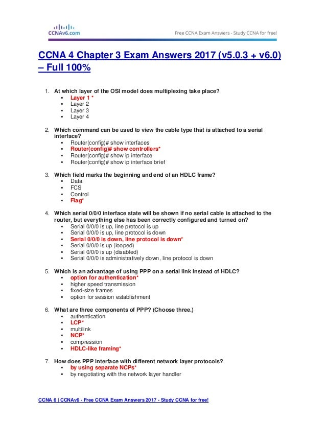 CCNA 1: Introduction to Networks v1 + v0 Exams Answers 2018