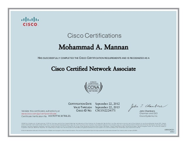 ccna certificate cisco certifications slideshare upcoming mohammad mannan