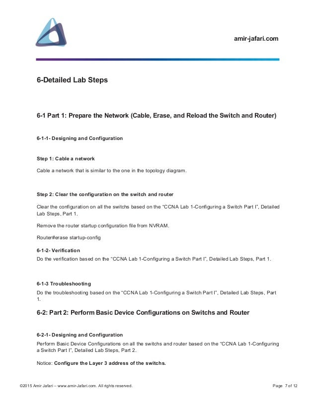lab 6 7 5 subnet and router configuration Lab 6 7 5 subnet and router configuration unit 1 la switch cli exec mode page 1 unit 2 lab 1 switch cli exec mode page 5 2 switch cli configuration process i page 8 3 switch cli.