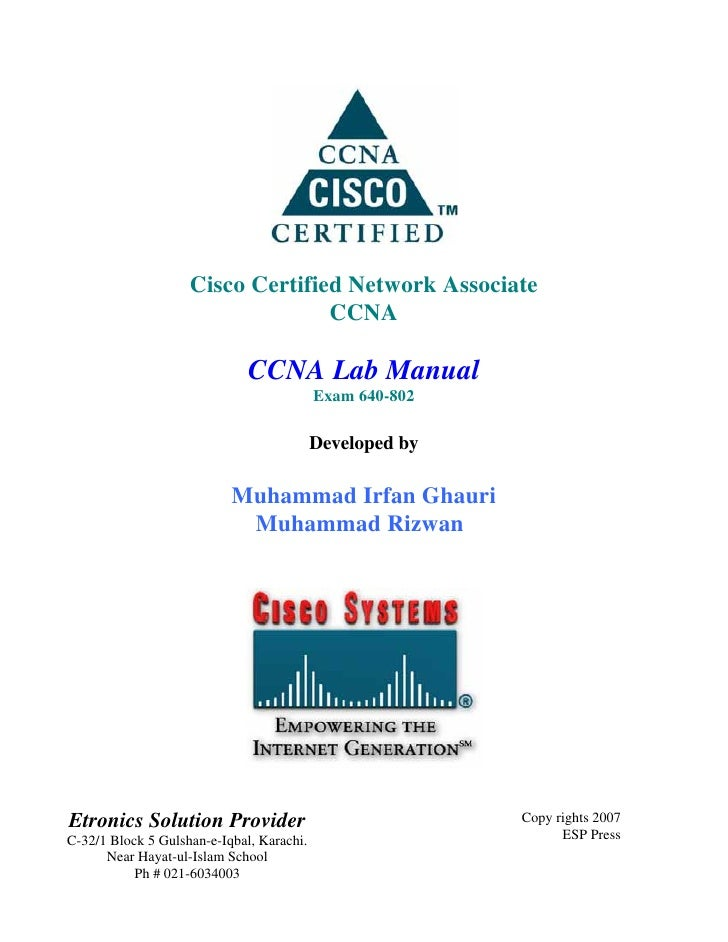 Cisco Certified Network Associate                                  CCNA                              CCNA Lab Manual      ...