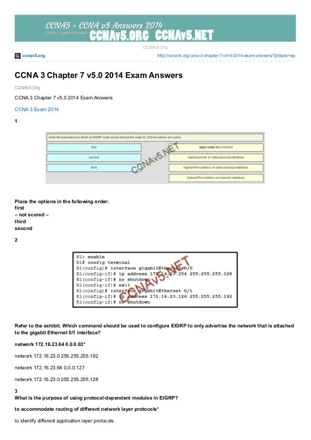 ccnav5.org http://ccnav5.org/ccna-3-chapter-7-v5-0-2014-exam-answers/?pfstyle=wp CCNAV5.Org CCNAv5.Org CCNA 3 Chapter 7 v5...