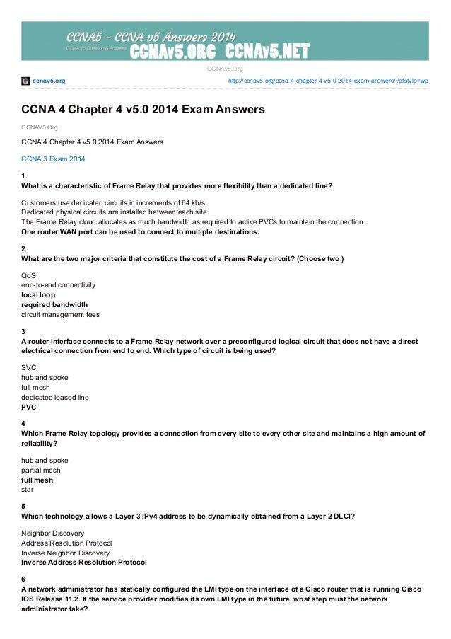 ccnav5.org http://ccnav5.org/ccna-4-chapter-4-v5-0-2014-exam-answers/?pfstyle=wp CCNAV5.Org CCNAv5.Org CCNA 4 Chapter 4 v5...