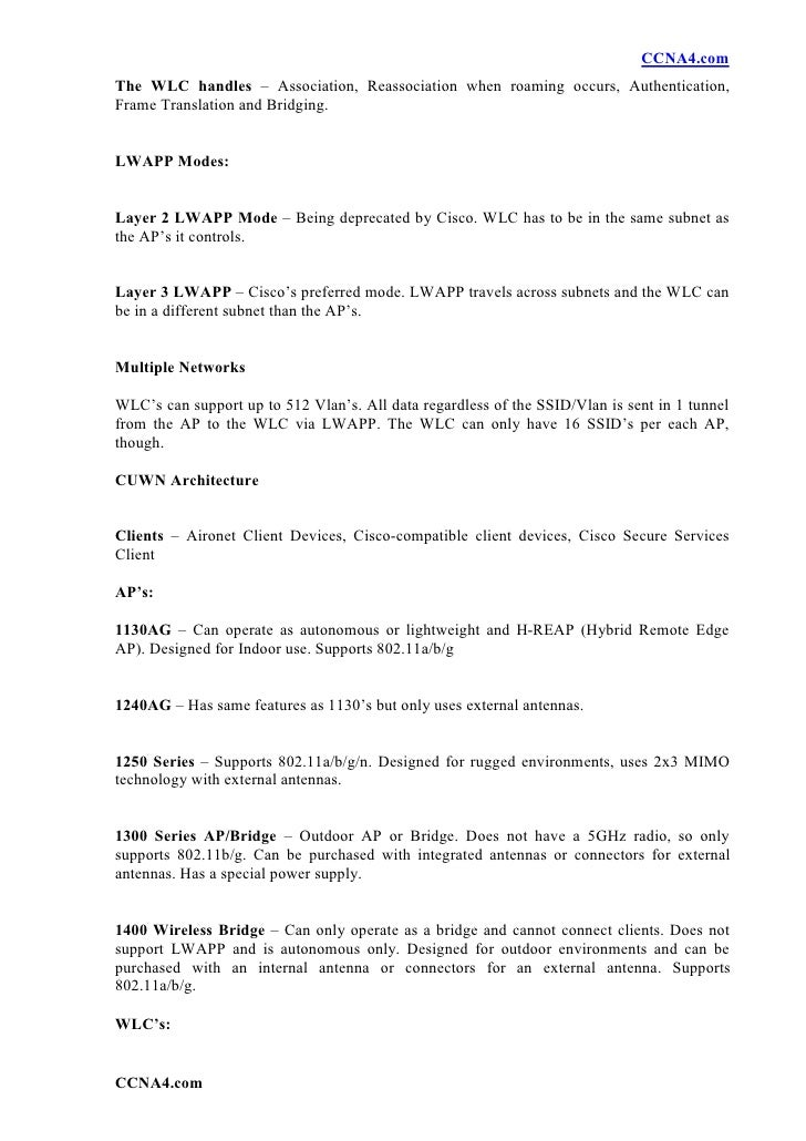 CCNA Wireless Study Material » CareerCert.info