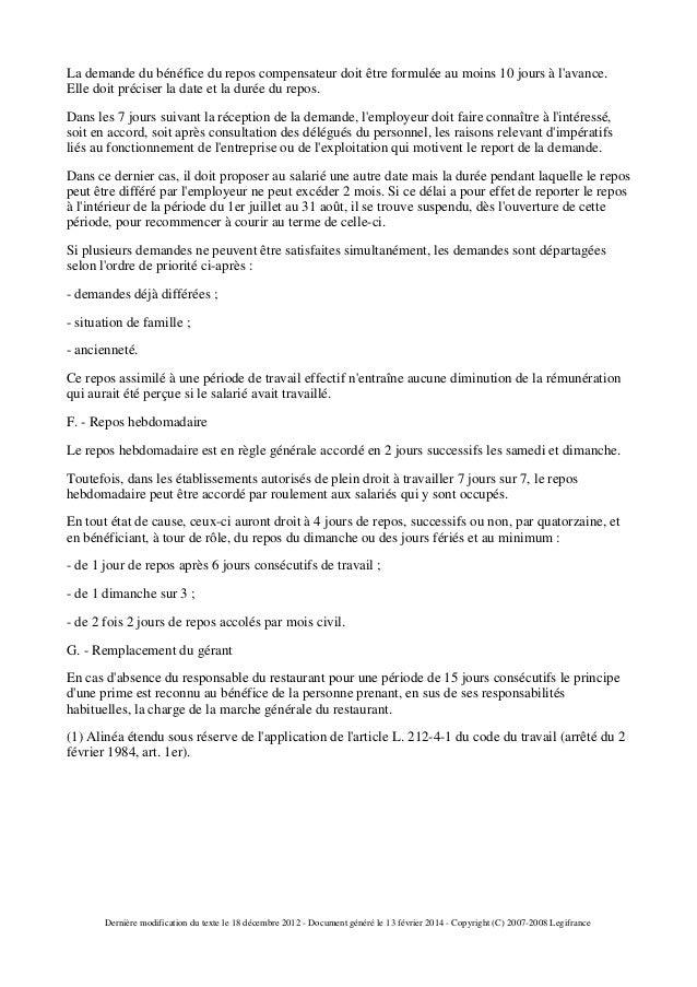 Ccn De La Restauration Collective