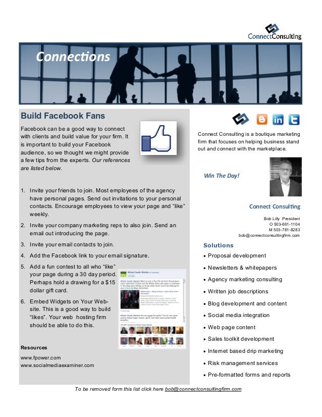 Connect ConsultingBob Lilly PresidentO 503-661-1104M 503-781-8283bob@connectconsultingfirm.comSolutions Proposal developm...
