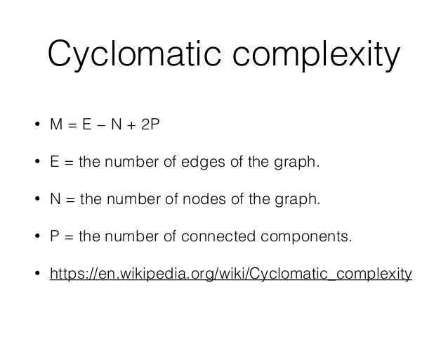 Using cyclomatic complexity to measure code complexity