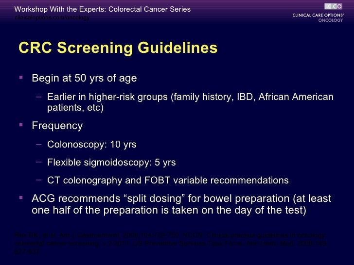 Workshop With The Experts Colorectal Cancer Series