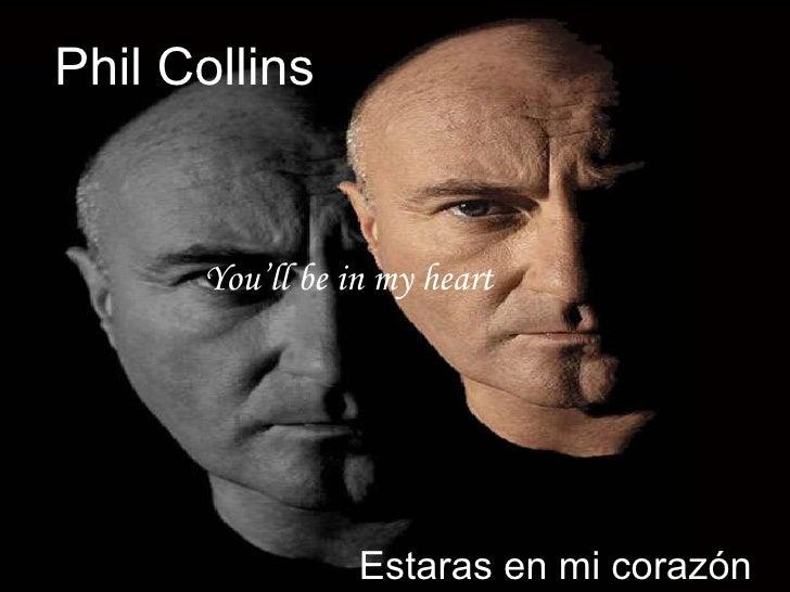 Phil Collins You'll be in my heart Estaras en mi corazón