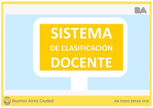 SISTEMA DE CLASIFICACIÓN DOCENTE 0 DOCENTE