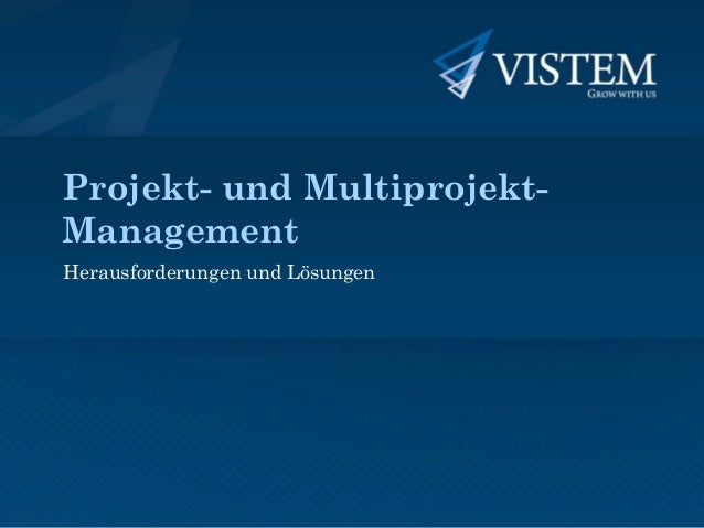 Projekt- und Multiprojekt- Management Herausforderungen und Lösungen