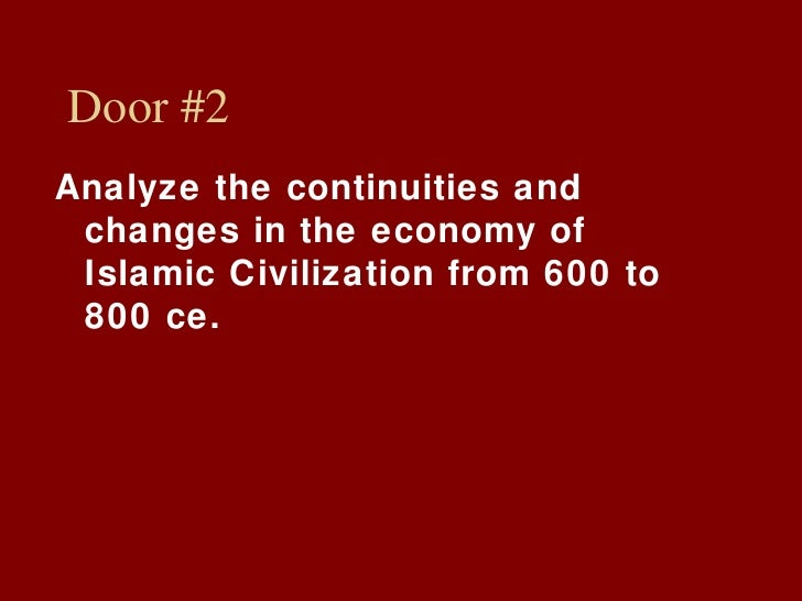 ccot islam 600 ce C 600 ce to 1450 ce  christianity, buddhism, and islam were capable of  spreading to a great  and legal customs and lays out the five pillars of islam.