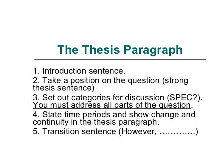 How to write a change and continuity thesis