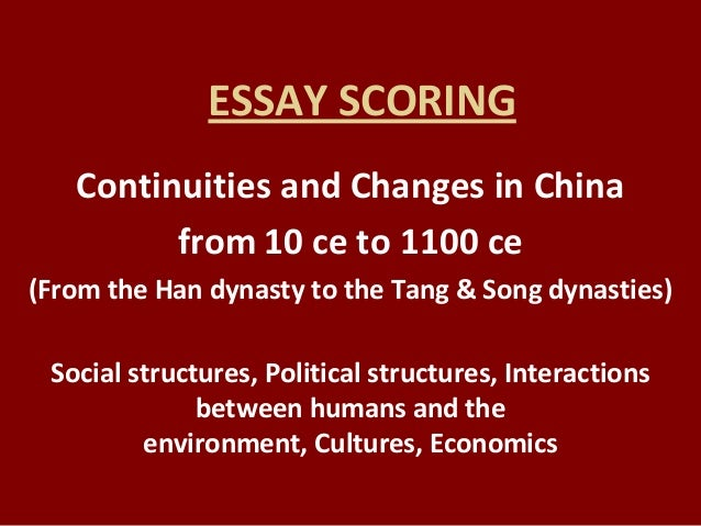 ccot essay china Free essay: when legal protections were given to christians although the roman empire went through modifications in culture and politics, it succeeded to.