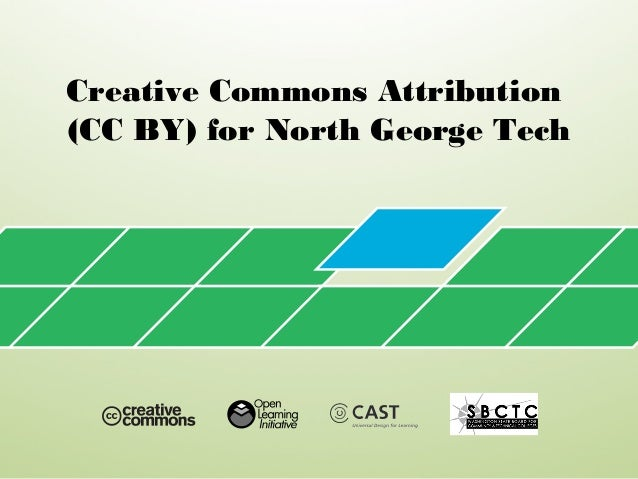 Creative Commons Attribution (CC BY) for North George Tech