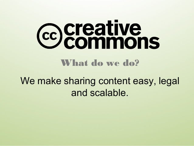 What do we do? We make sharing content easy, legal and scalable.