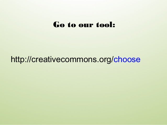 Webpage: creativecommons.org