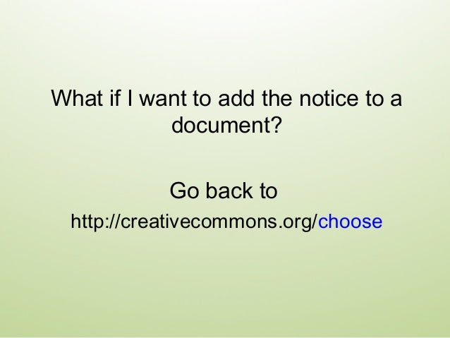 Then, make sure to note those materials that are governed by different terms. You can do this on a separate credits page a...