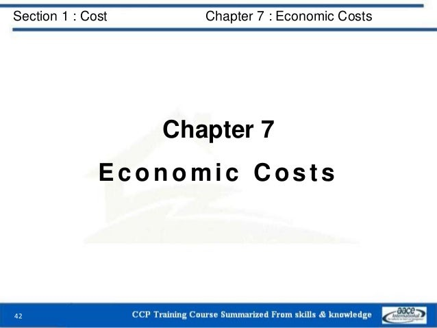 Section 1 : Cost Chapter 7 : Economic Costs Chapter 7 Economic Costs 42