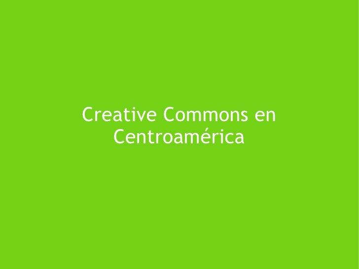 Creative Commons en Centroamérica
