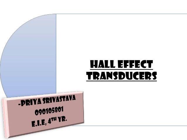 HALL EFFECTTRANSDUCERS