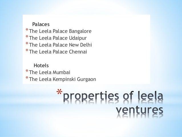 presentation on leela hotel
