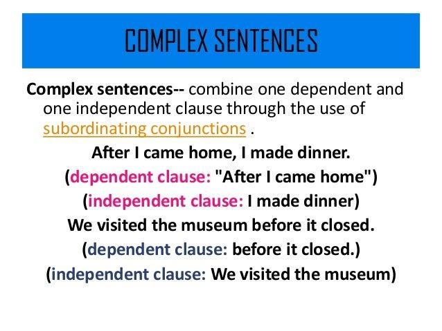 complex and compound complex sentences in communication breakdown