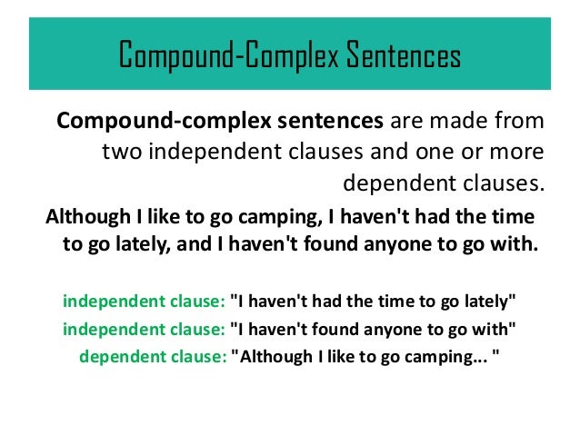 complex and compound complex sentences in communication breakdown