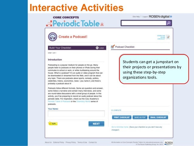 Core concepts periodic table online preview 10 interactive activities urtaz Gallery