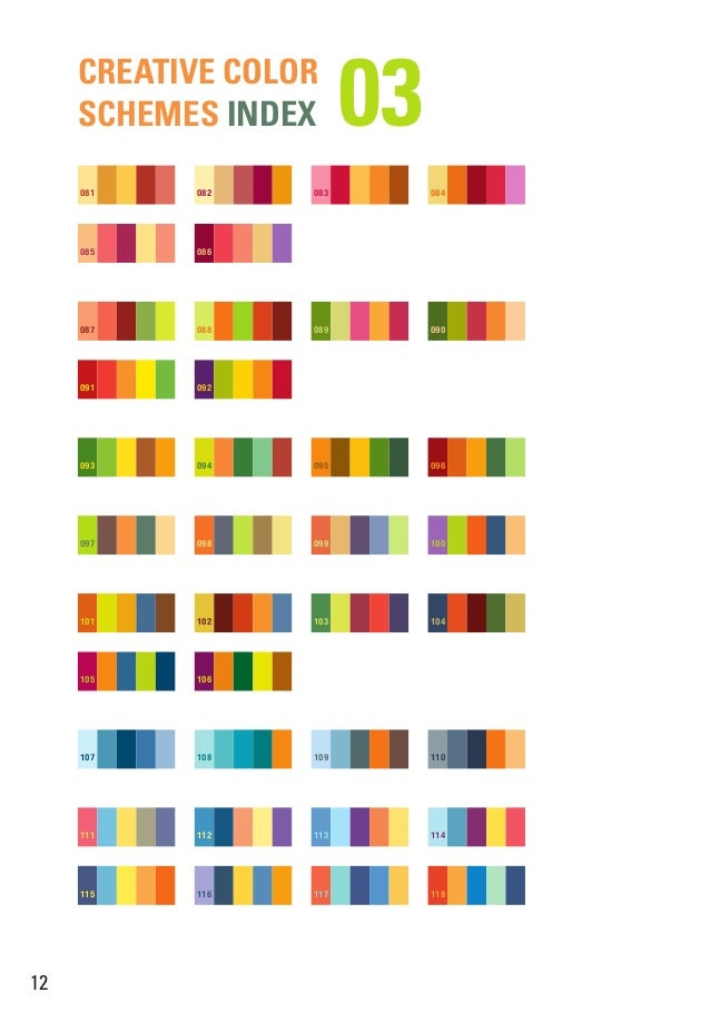 Creative Color Schemes Index; 14.