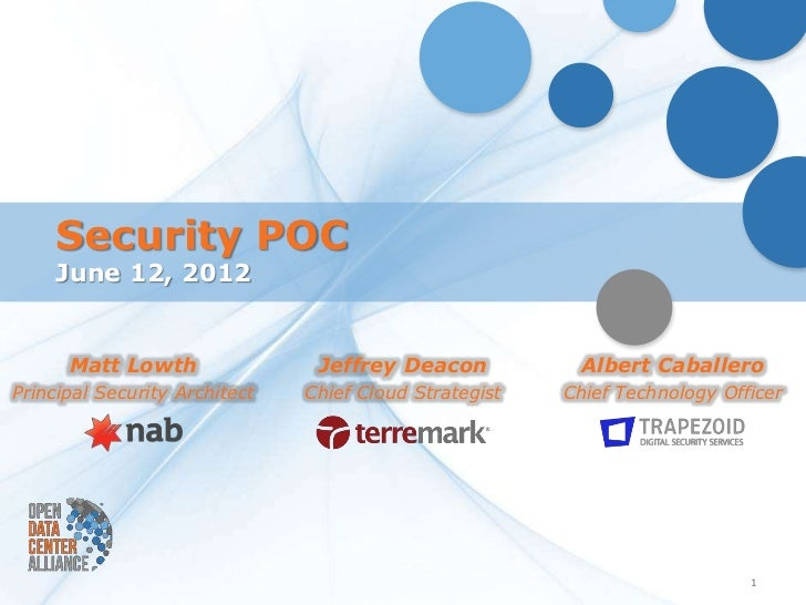 Security POC     June 12, 2012      Matt Lowth                Jeffrey Deacon            Albert CaballeroPrincipal Security...