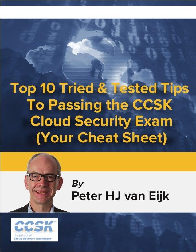 Ccsk Exam Cheat Sheet