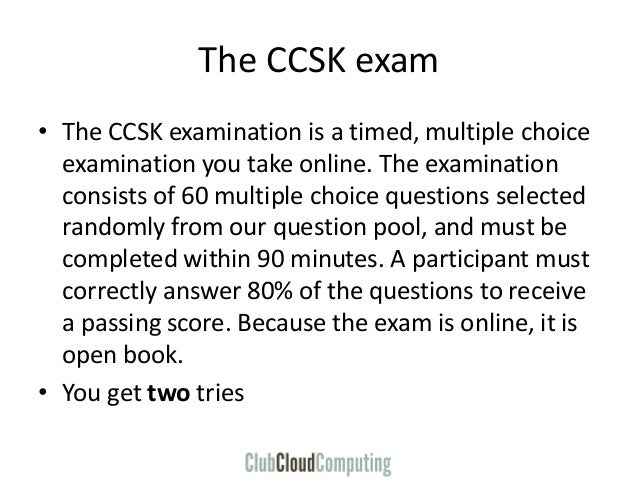 CCSK Certificate of Cloud Computing Knowledge - overview