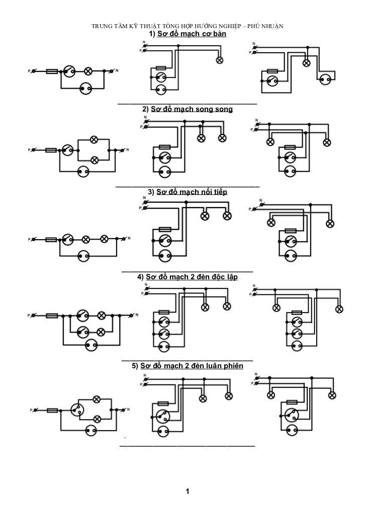 Các sơ đồ mạch điện